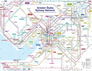 Greater Osaka Map